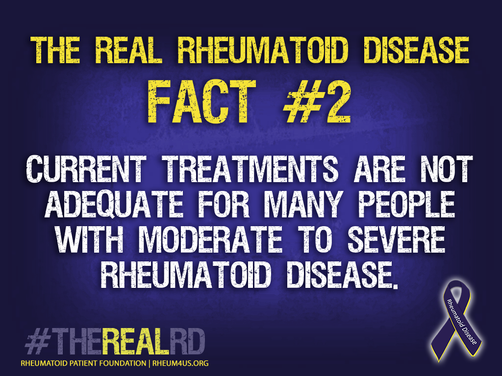Available treatments are not adequate for many people with moderate to severe Rheumatoid Disease